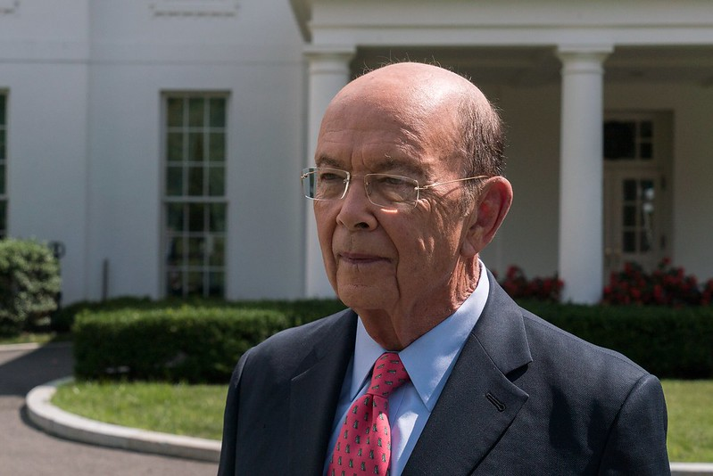 "Caption: Wilbur Ross, ""King of Bankruptcy,"" vulture capitalist, and US Secretary of Commerce."