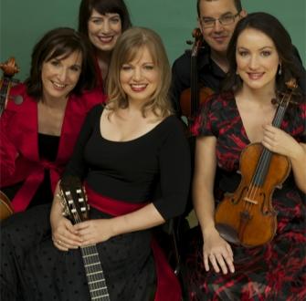 Caption: Karin Schaupp and Flinders Quartet, Credit: ABC Classics