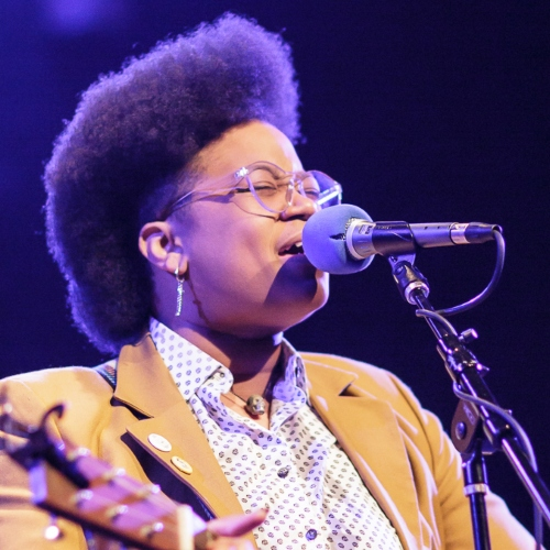 Caption: Amythyst Kiah on Live Wire, Credit: Jennie Baker