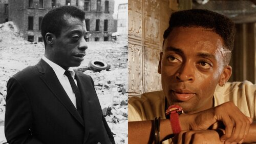 Caption: James Baldwin in 'I Am Not Your Negro' and Spike Lee in 'Do the Right Thing'