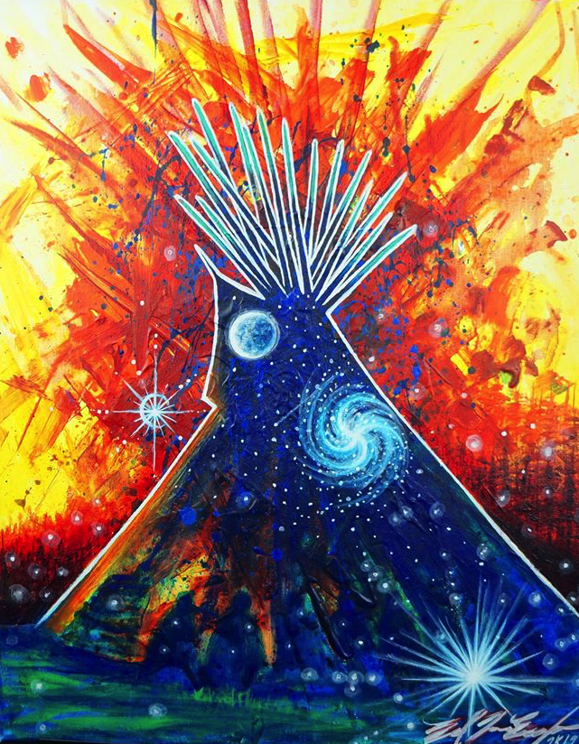 """Caption: """"Star People"""" by Ed Two Eagle, Credit: Seven Council Fires Native Art/Facebook"""