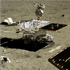 Caption: China's Yutu-2 rover on the Moon., Credit: CNSA