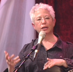 Caption: Janis Ian on the WoodSongs Stage.
