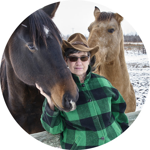 Caption: Karen Engevik of Black Horse Pottery - Roseau MN