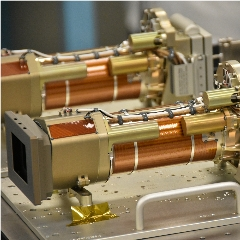 Caption: Mastcam-Z in the Malin Space Science Systems Clean Room, Credit: Briony Horgan