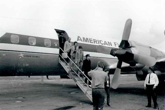 Caption: The Beatles arrived at the Minneapolis-Saint Paul International Airport, August 1965, Credit: Courtesy of the Minnesota Historical Society