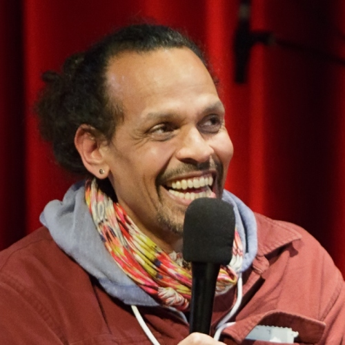 Caption: Ross Gay on Live Wire, Credit: Jennie Baker