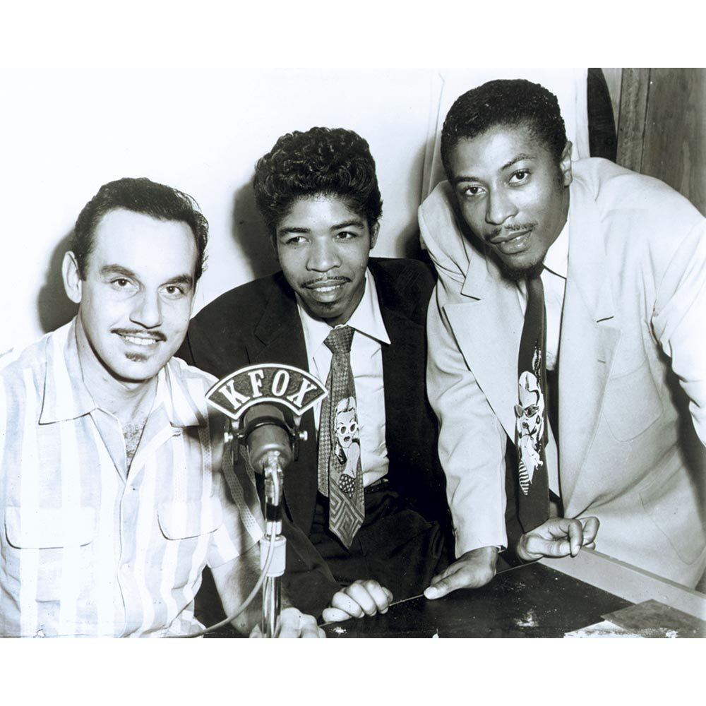 Caption: Marvin and Johnny with Johnny Otis