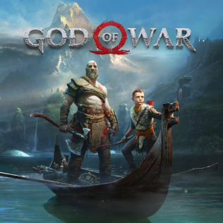 Caption: The cover art for 2018's God of War, featuring main character Kratos and his son Atreus., Credit: CREDIT BY SOURCE, FAIR USE: WIKIPEDIA ENTRY