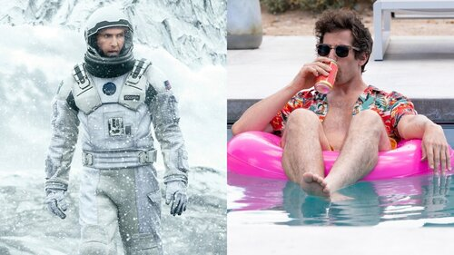 Caption: Christopher Nolan's 'Interstellar' and Andy Samberg's 'Palm Springs'
