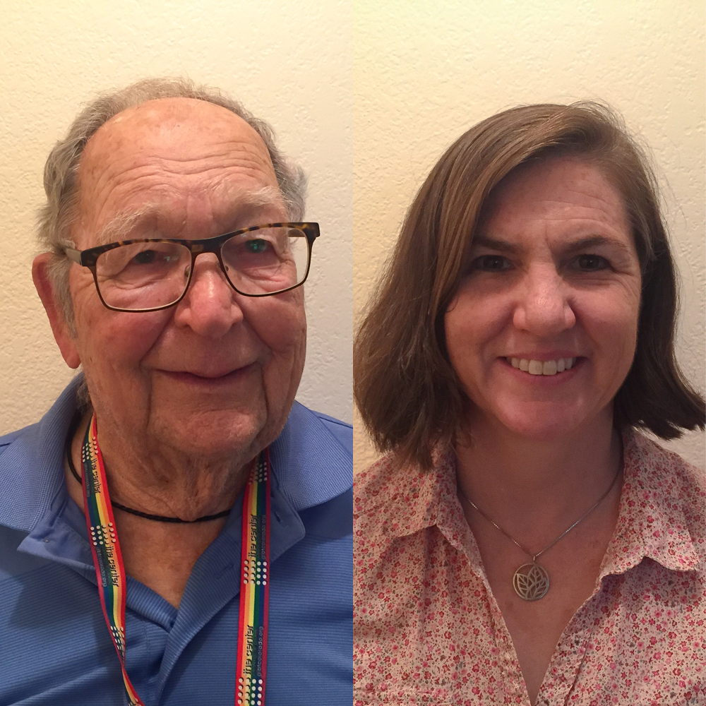 Caption: Kenneth Felts and Rebecca Mayes after their StoryCorps interview in Arvada, Colorado in July 2020., Credit: Kenneth Felts and Rebecca Mayes for StoryCorps.