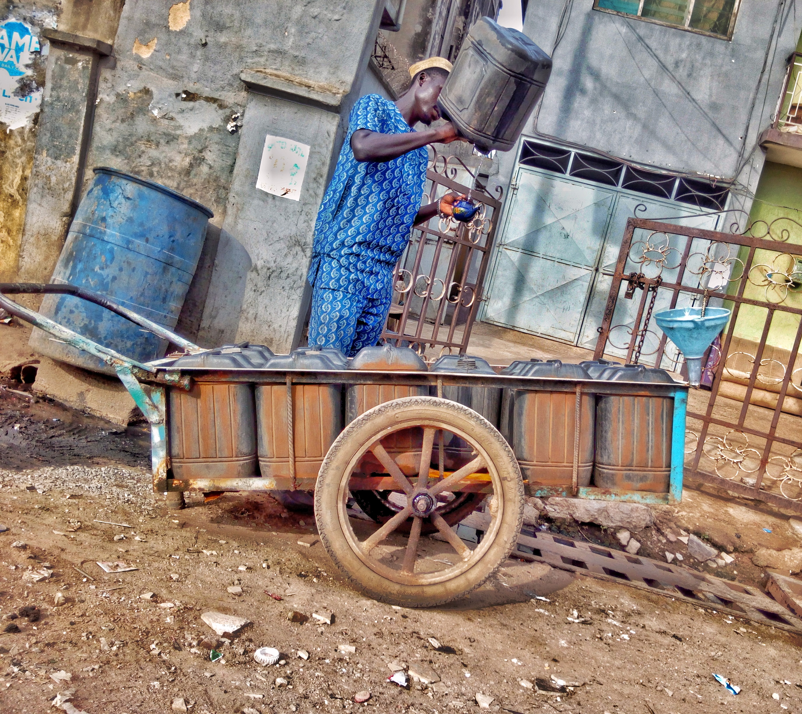 Caption: water vendor, Credit: wikimedia commons