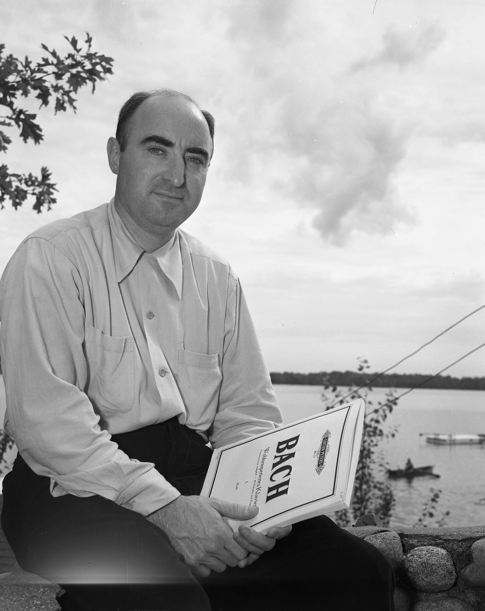 Caption: Pianist and NMC faculty member Henry Harris in 1953, Credit: Interlochen Center for the Arts