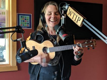 Caption: Mary Bue performs in Studio A in June 2019