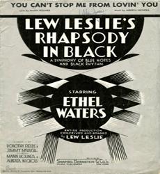 Caption: Lew Leslie playbill