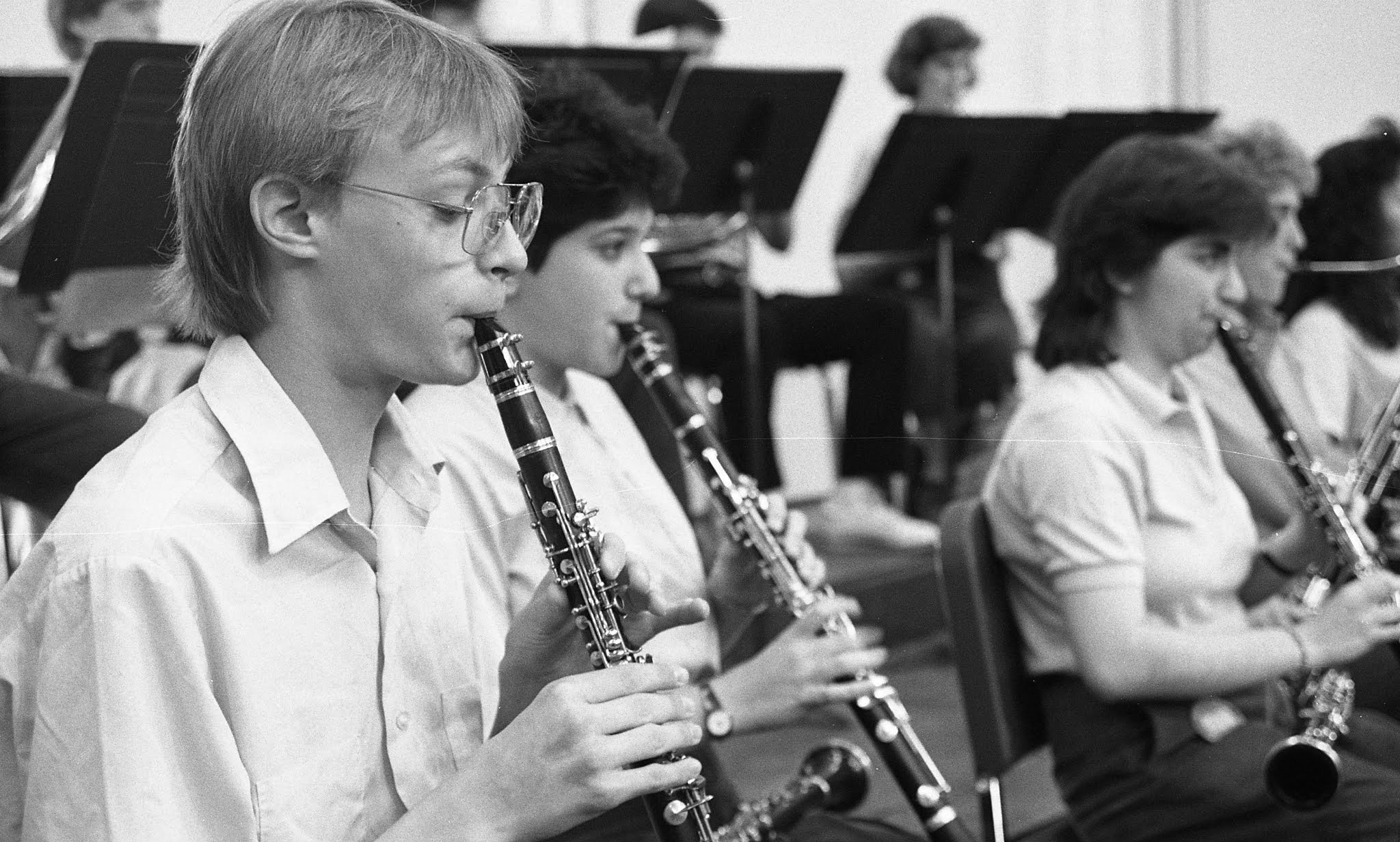 Caption: Students in the 1987 World Youth Symphony Orchestra, Credit: Interlochen Center for the Arts