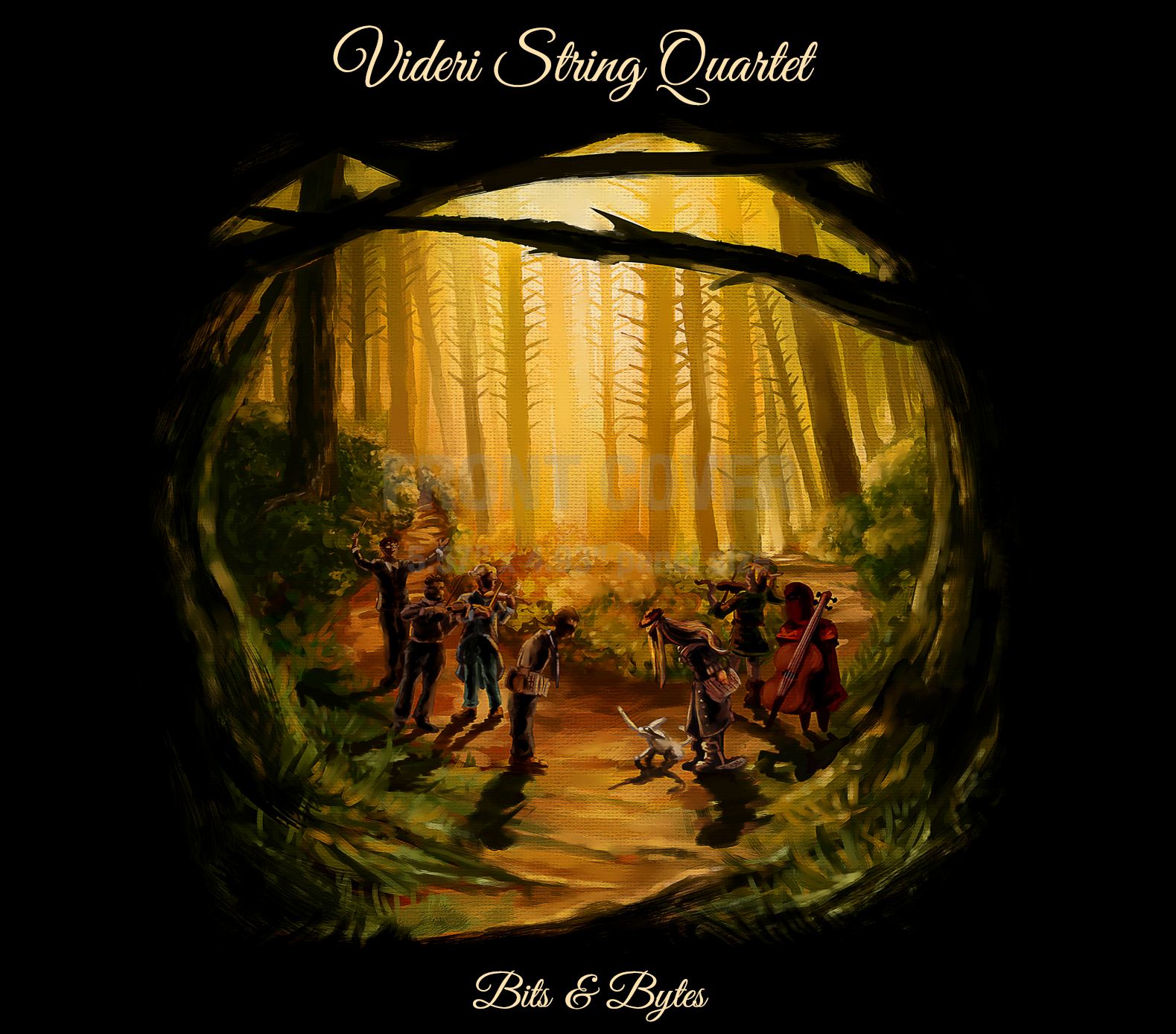 """Caption: The cover art designed by Nate Horsfall for the album """"Bits and Bytes"""" by the Videri String Quartet., Credit: CREDIT: DESIGN BY NATE HORSFALL; USED WITH PERMISSION."""