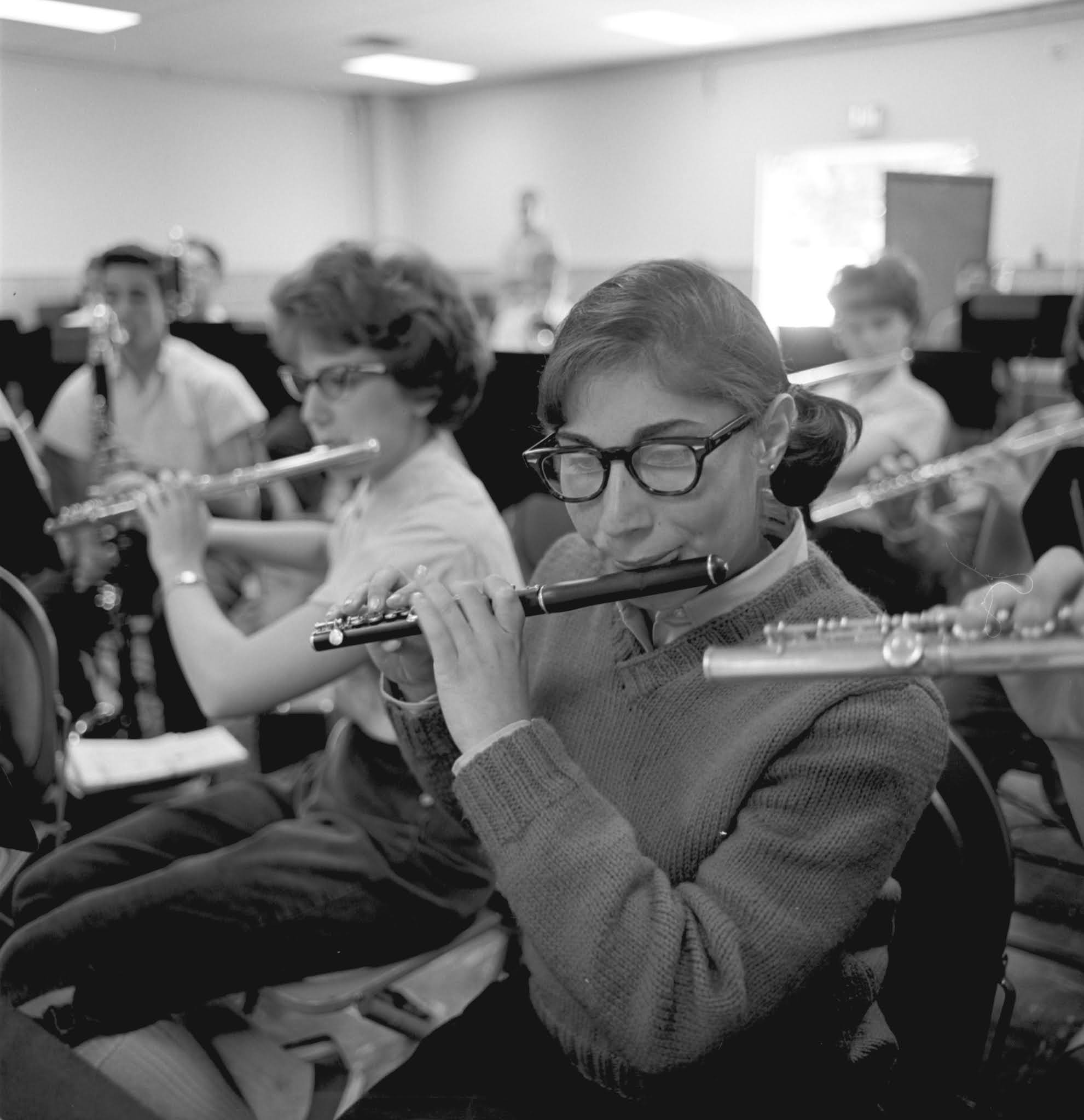 Caption: A student piccolo player in the summer of 1963, Credit: Interlochen Center for the Arts