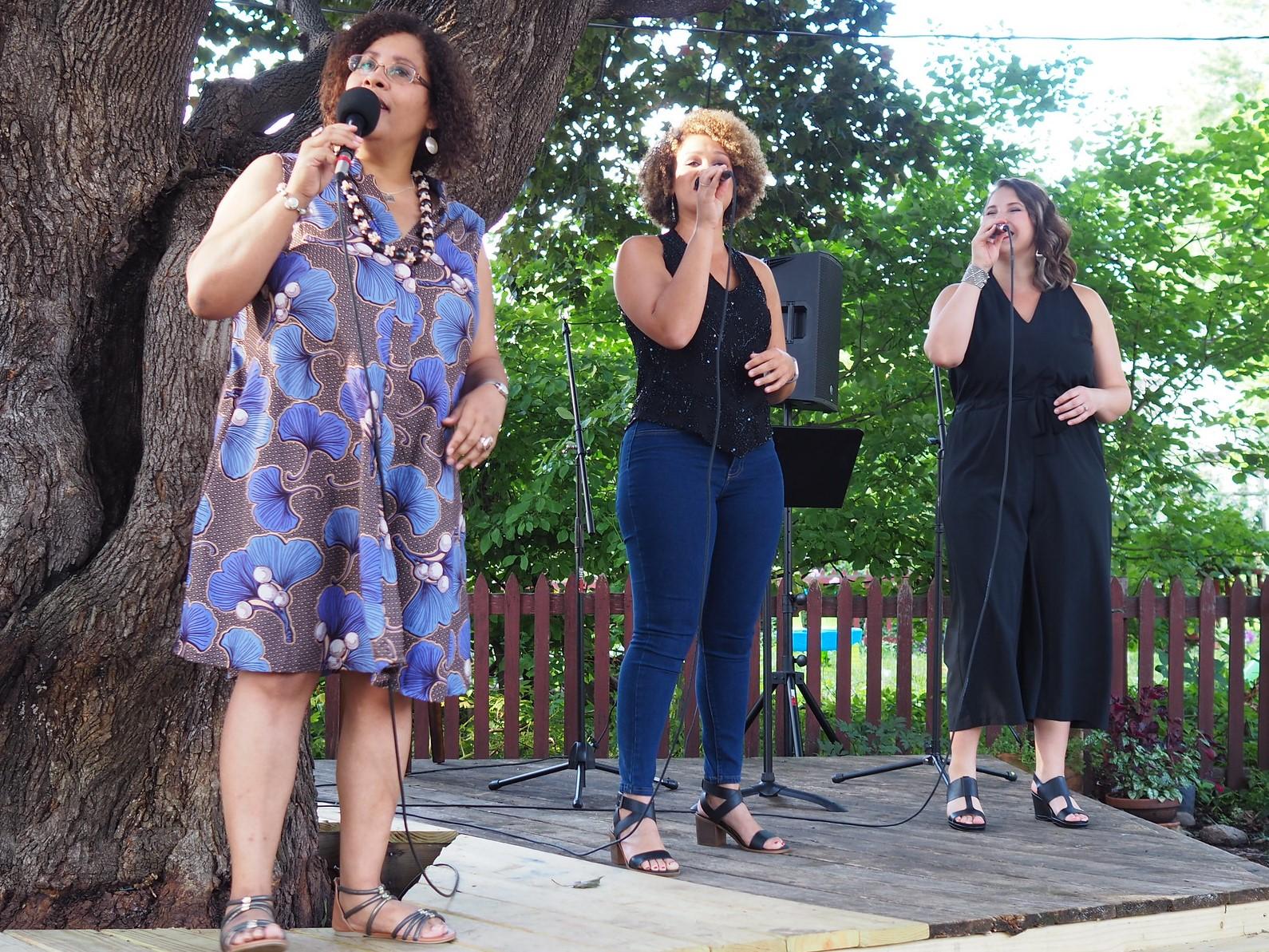 Caption: Sarah M Greer, Katrina Brogden and Katia Cardenas, Credit: Jenny Zander