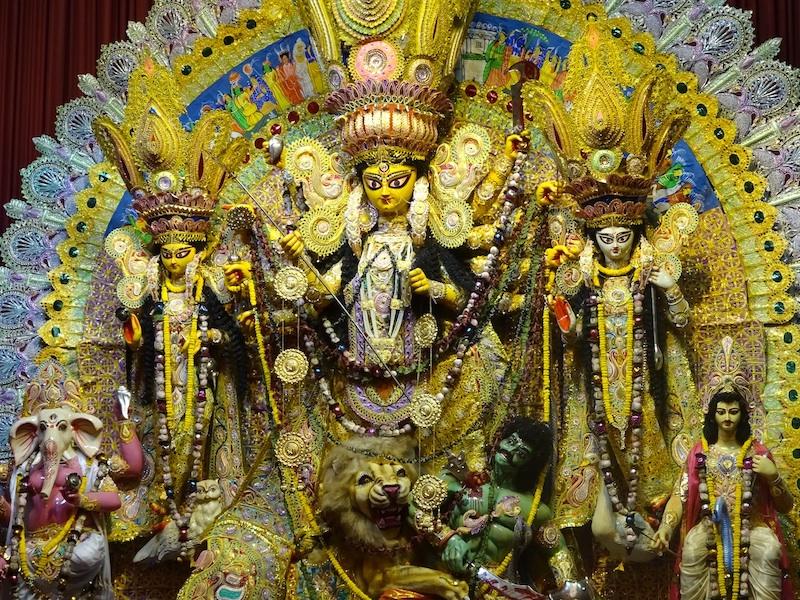 Caption: The Goddess Durga and her family, Credit: Sandip Roy