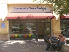 Caption: Community Check Cashing in Oakland, CA, Credit: Andrew Stelzer