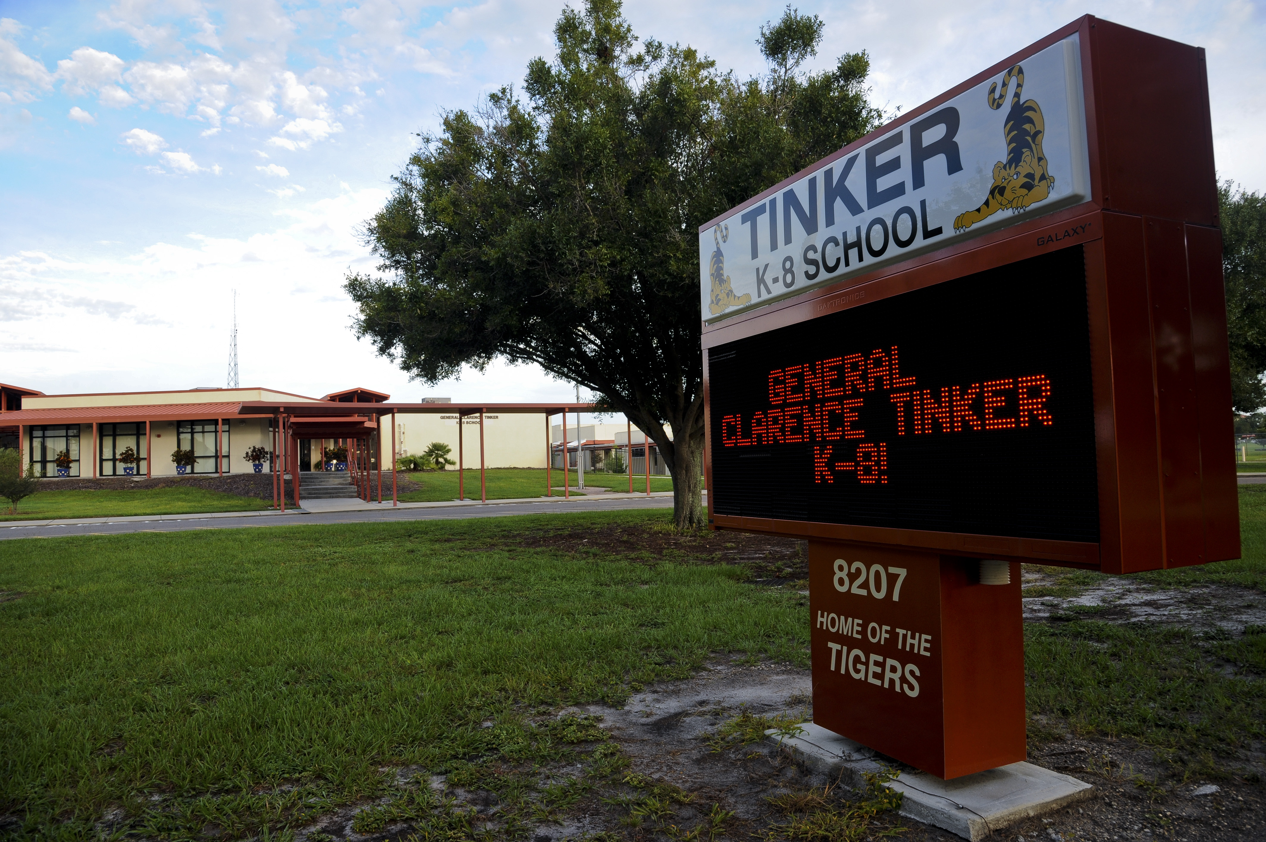 Caption: At General Clarence Tinker K-8 School on MacDill Air Force Base, Fla., about four in five students are attending classes in person., Credit: Danielle Quilla / U.S. Air Force