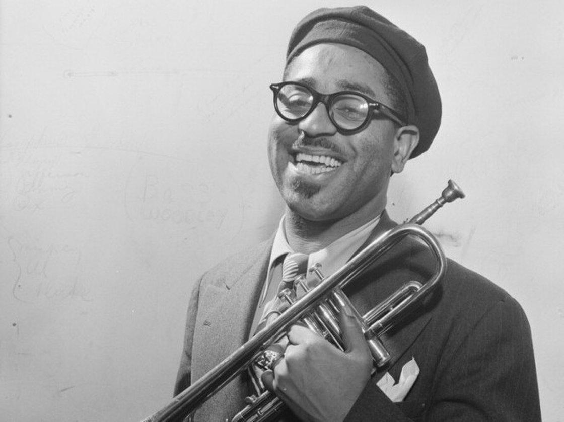Caption: Dizzy Gillespie