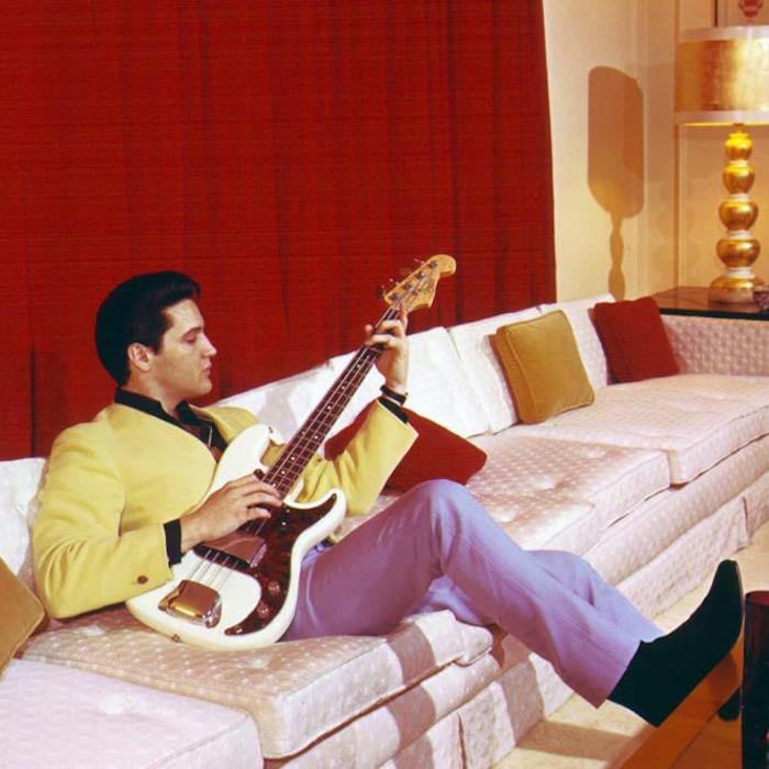 Caption: Elvis at Home