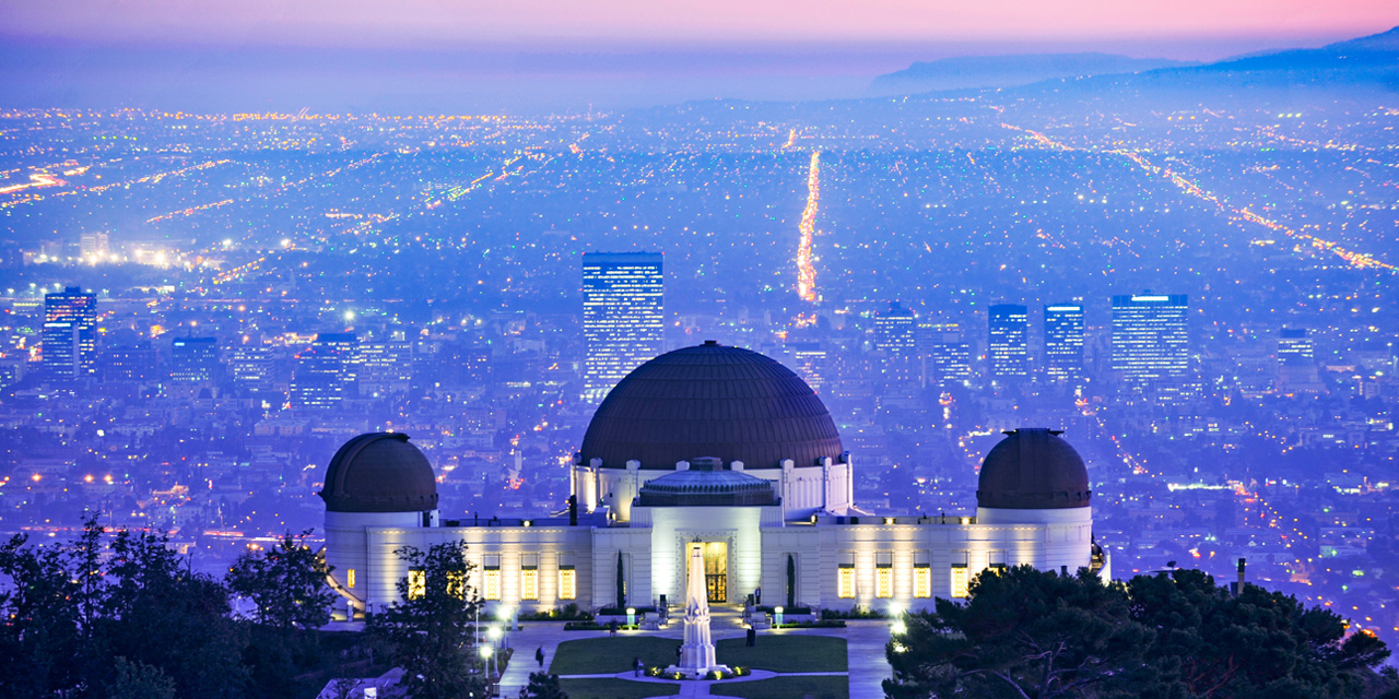 Caption: Griffith Observatory overlooking Los Angeles