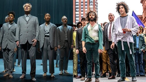 Caption: Spike Lee directed David Byrne concert film 'American Utopia' / Aaron Sorkin's 'Trial of the Chicago 7'