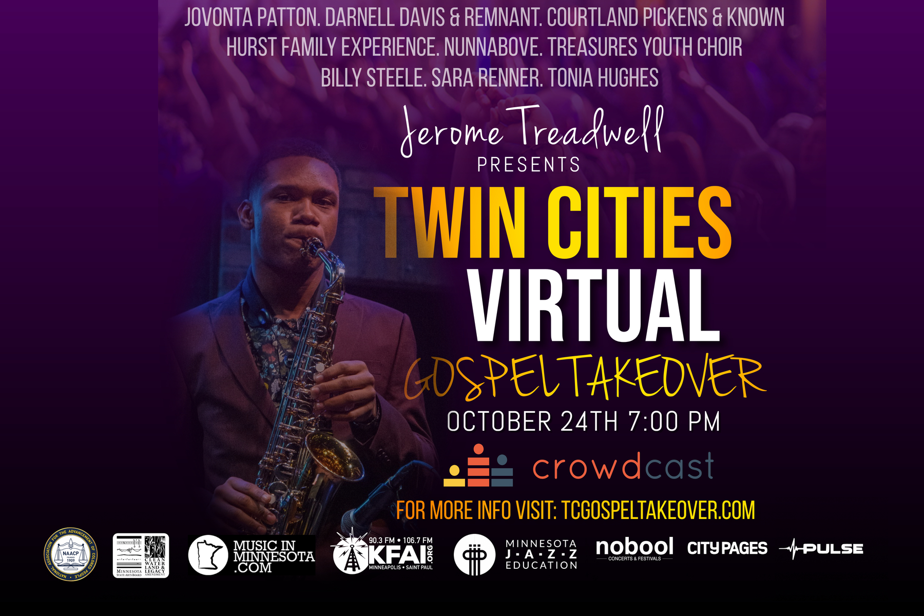 Caption: MN Gospel Takeover poster, Credit: Jerome Treadwell