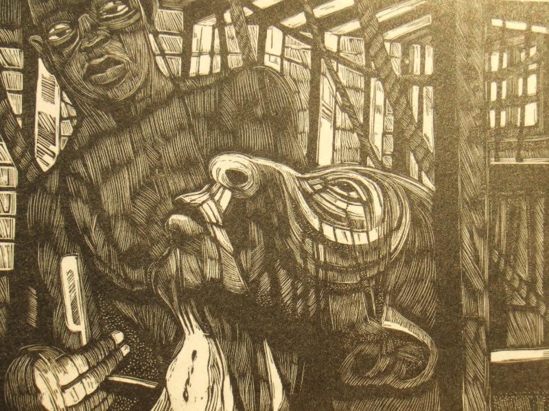 Caption: Garrick Palmer. 'Benito Cereno,' Pencil signed proof; 1970.