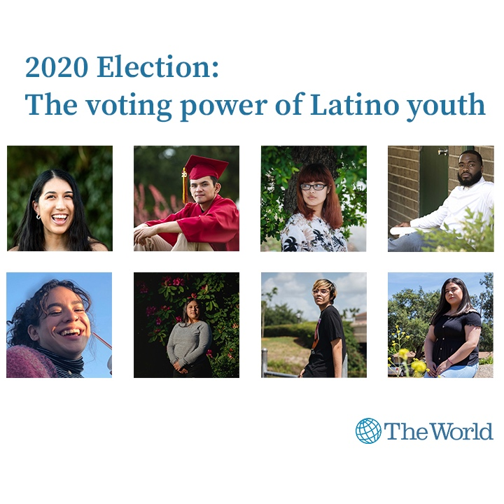 Caption: These young Latinos will vote for US president for the first time in the 2020 elections., Credit: Maria Elena Romero/The World