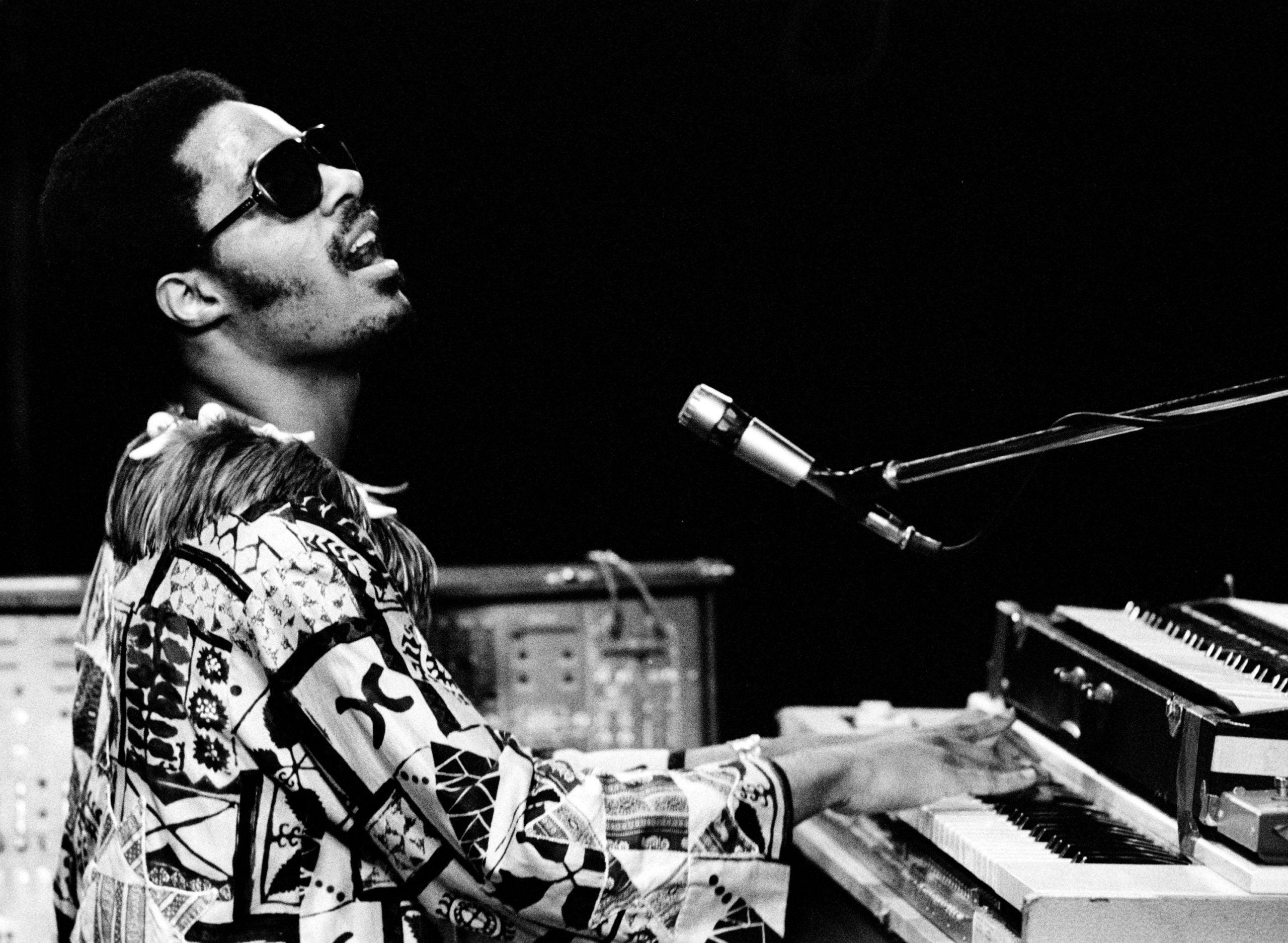 Caption: Stevie Wonder