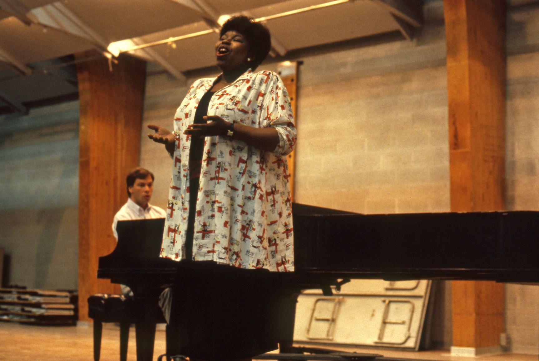 Caption: Marvis Martin performs at Interlochen in 1985, Credit: Interlochen Center for the Arts