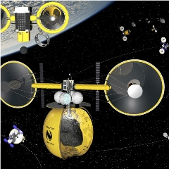 Caption: Artist impression of TransAstra spacecraft., Credit: TransAstra Corporation