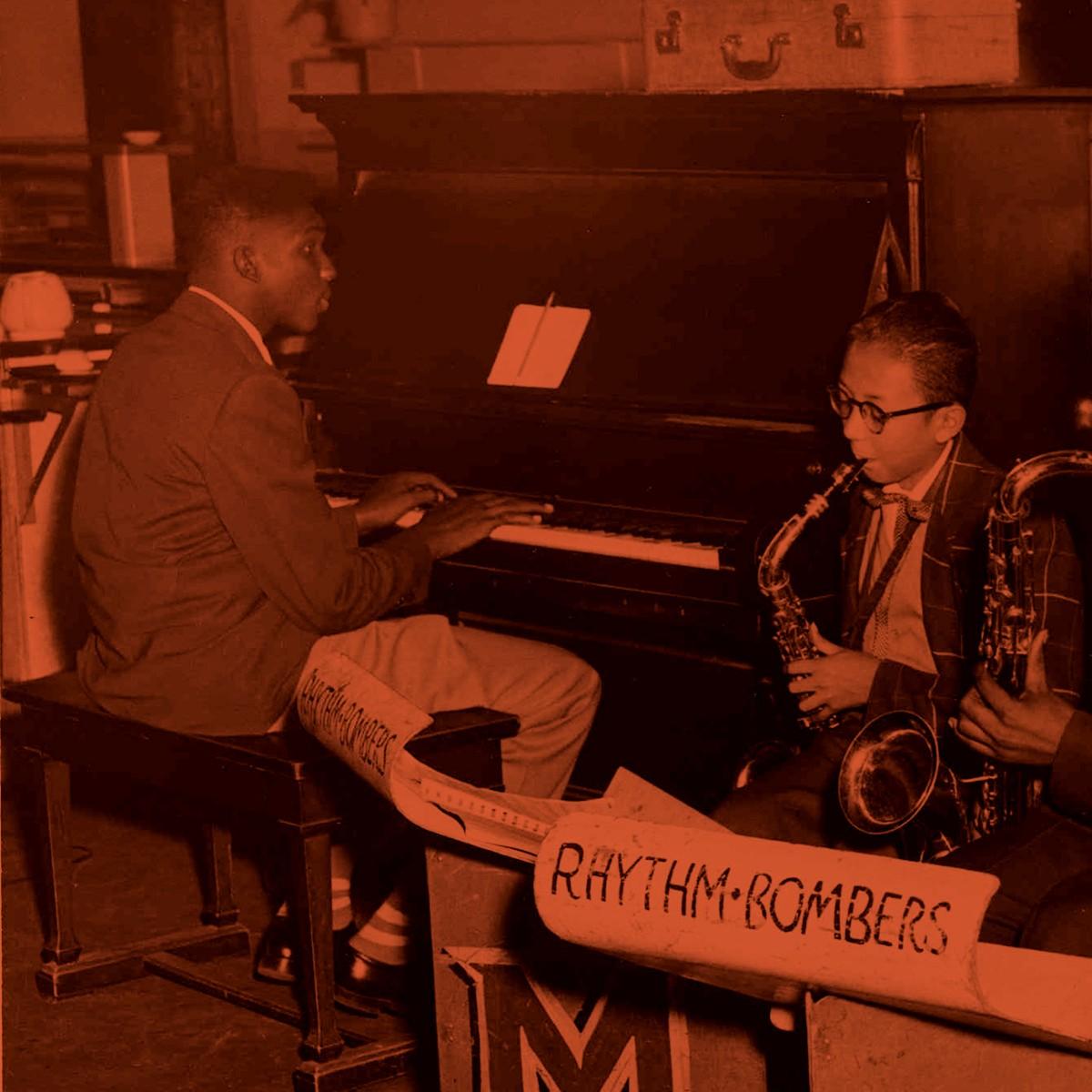 Caption: Harold Mabern and Charles Lloyd at Manassas High School