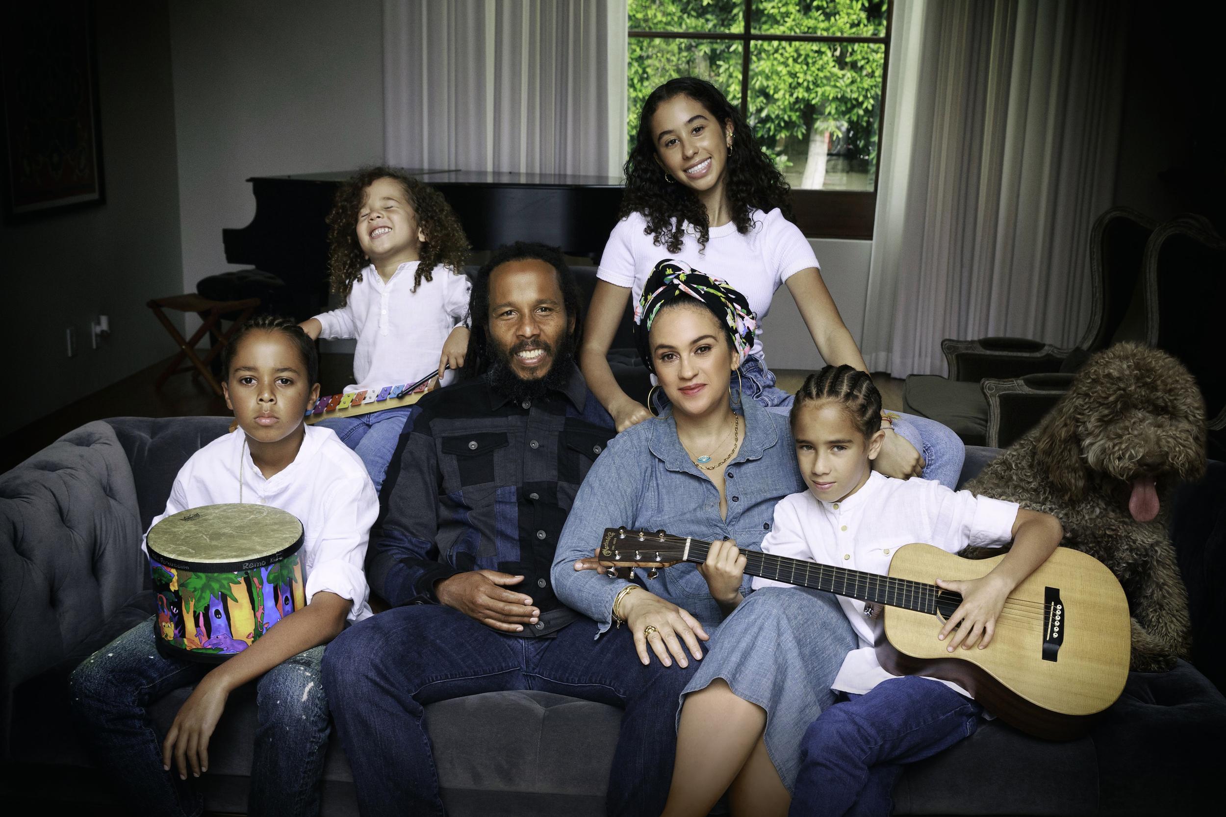 Caption: Ziggy Marley & Family