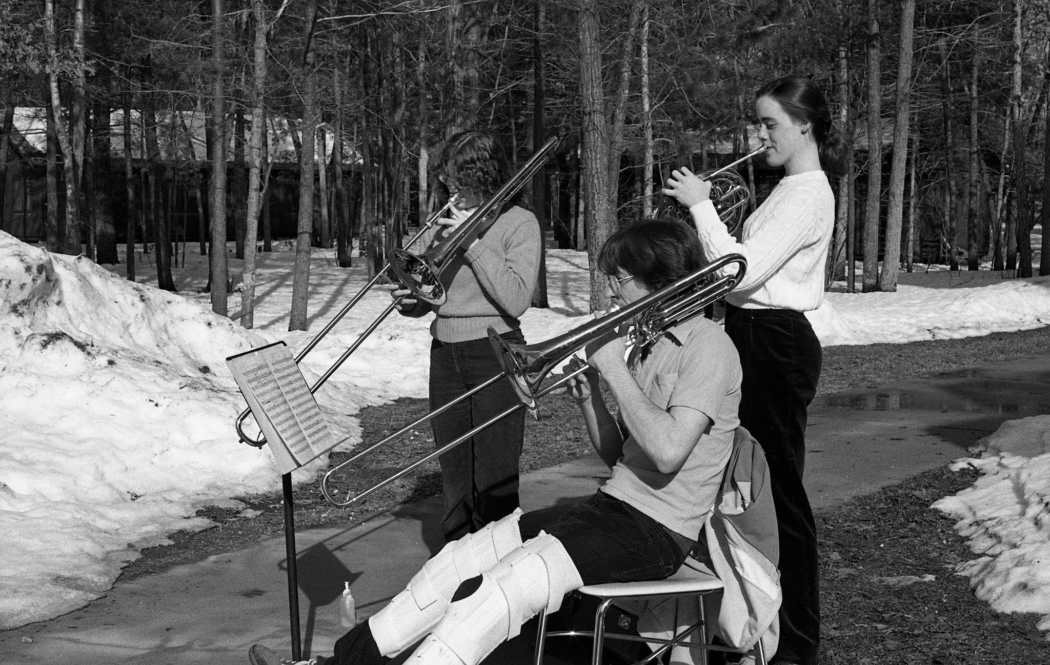 Caption: student brass players in the 1980-81 Academy year, Credit: Interlochen Center for the Arts