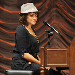 Caption: Norah Jones performs with The Little Willies on the WoodSongs Stage.