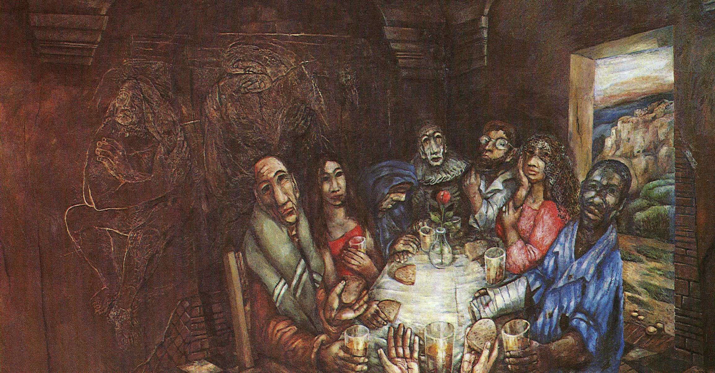Caption: Sieger Köder, Das Mahl mit den Sündern, 1973.