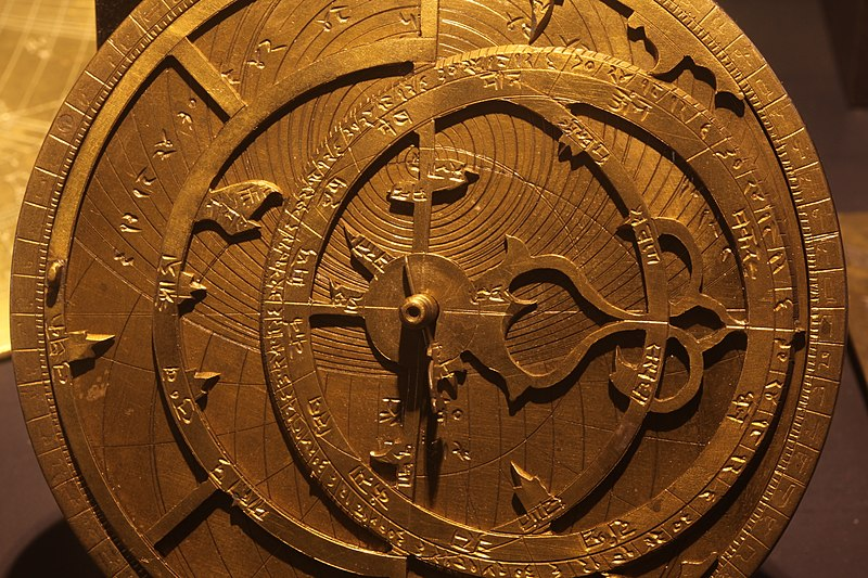 Caption: The astrolabe was a marriage of the planisphere and dioptra, effectively an analog calculator capable of working out several different kinds of problems in astronomy.