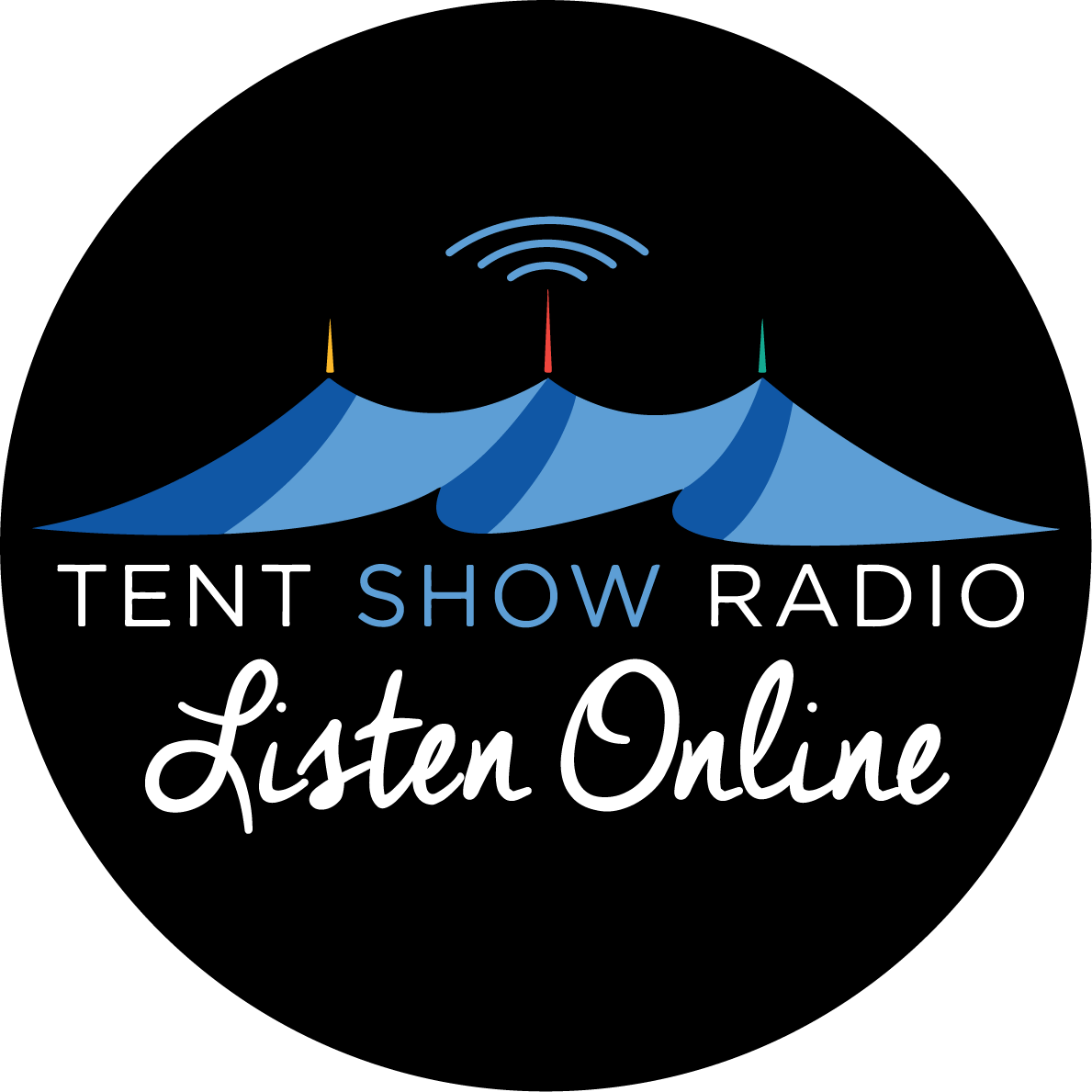 Caption: Tent Show Radio Logo
