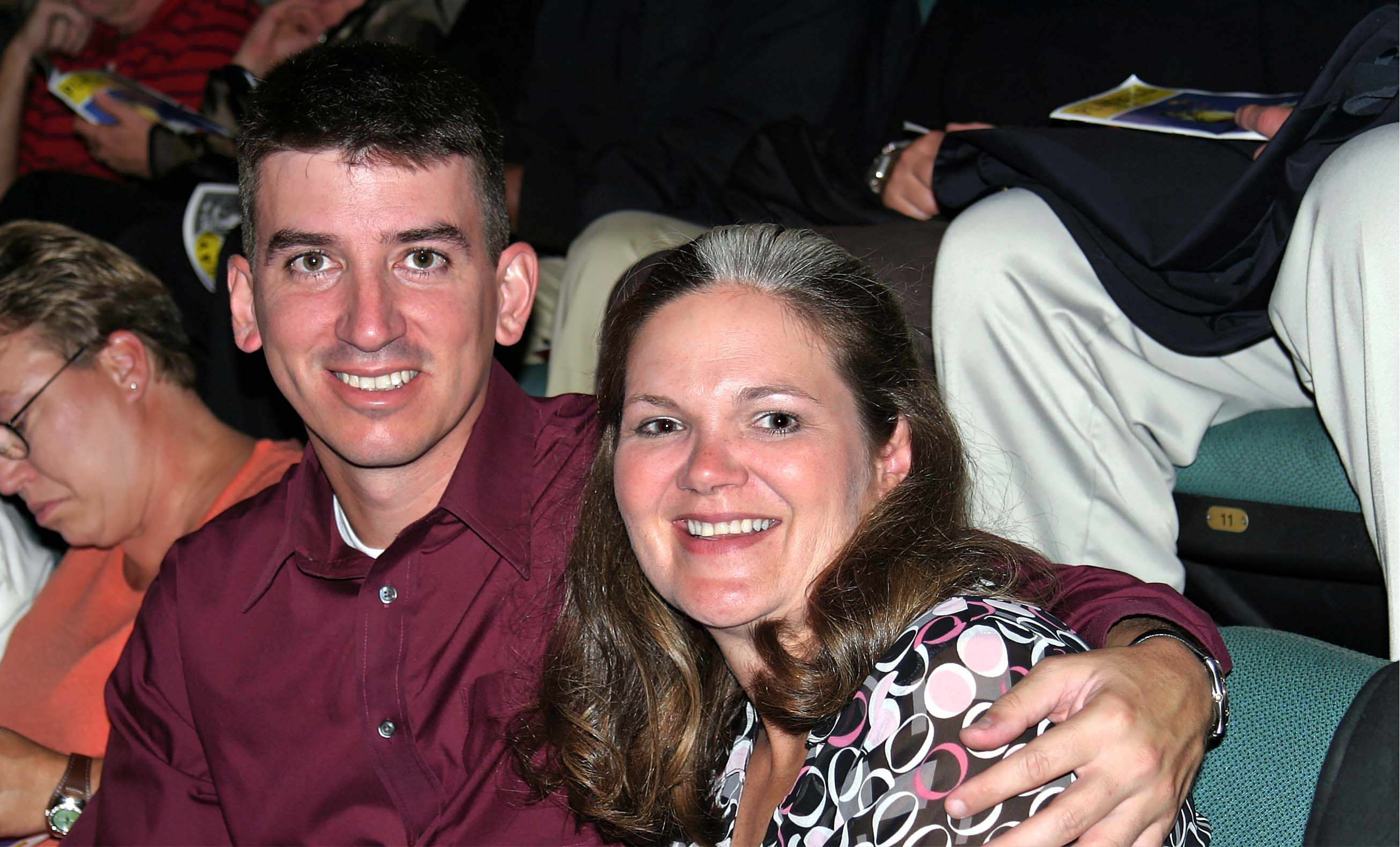 Caption: Kristen Christy poses with her husband Don in a 2005 photo. Don, an Air Force lieutenant colonel, died by suicide in 2008., Credit: Kristen Christy