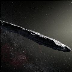 Caption: Harvard professor Avi Loeb takes issue with this cigar-like impression of interstellar object 'Oumuamua., Credit: ESO / M. Kornmesser
