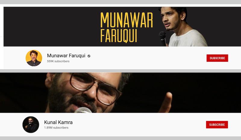 Caption: Faruqui and Khamra's twitter headings