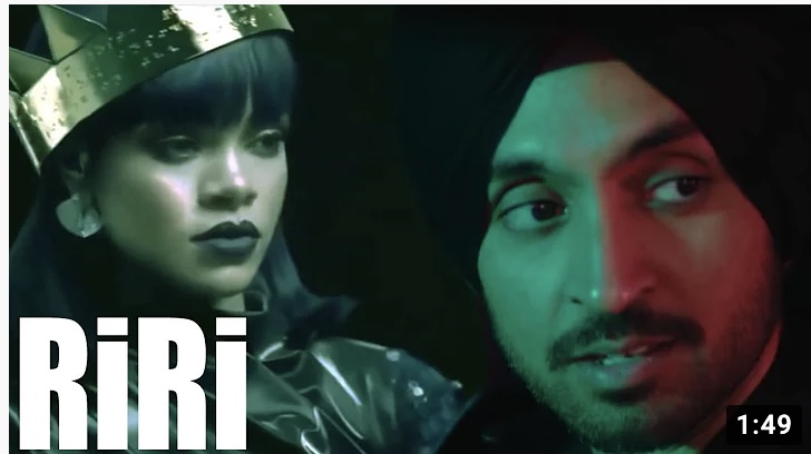 "Caption: A Still from the video ""RiRi"" by Diljit Dosanjh, Credit: Sandip Roy"