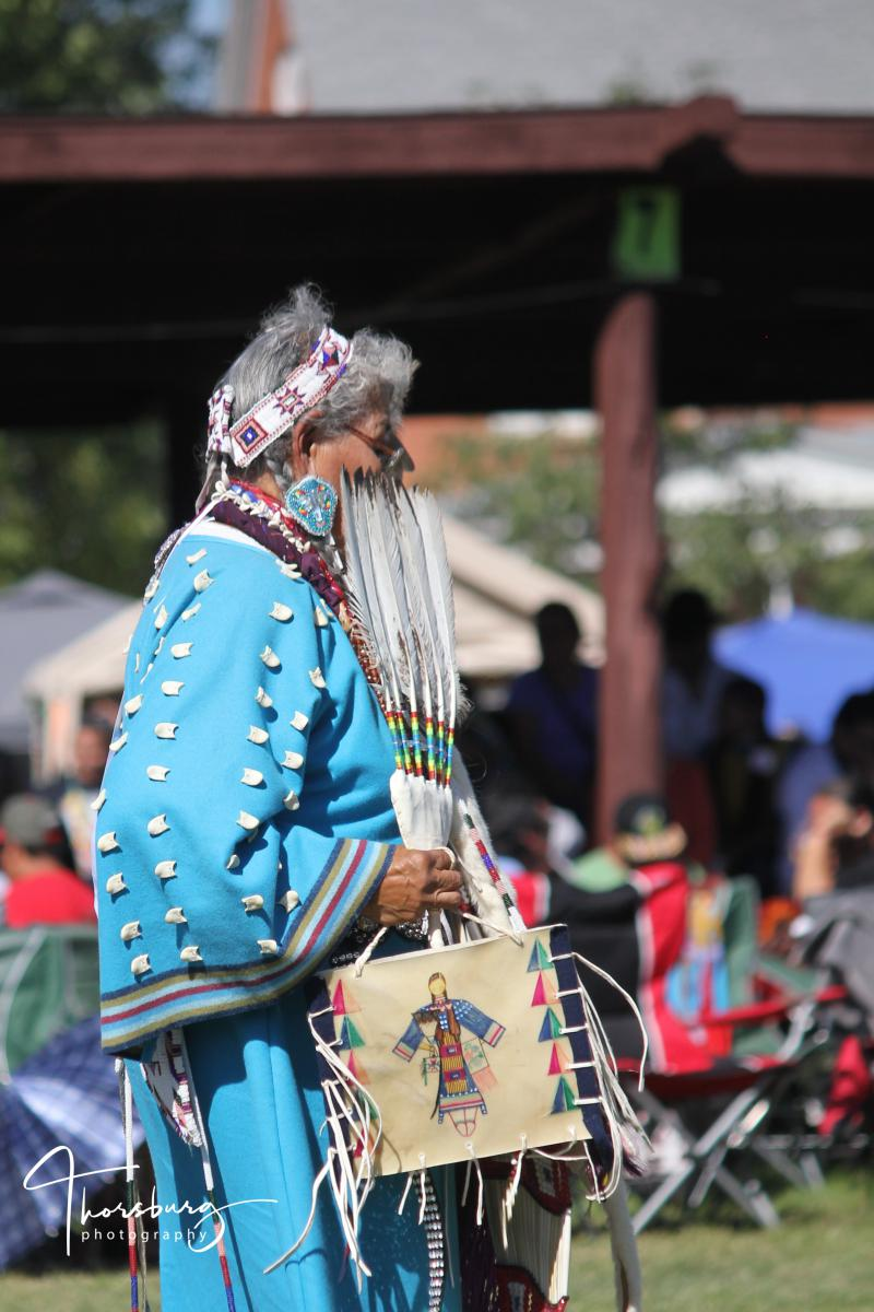 Caption: Traditional dancer, United Tribes Technical College International Powwow, 2015 , Credit: ©Lisa Johnson