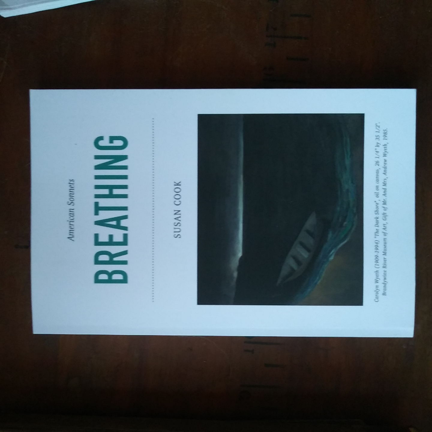 Caption: Breathing:American Sonnets on Bookshop.org + at Gulf Maine Books, Credit: Susan Cook