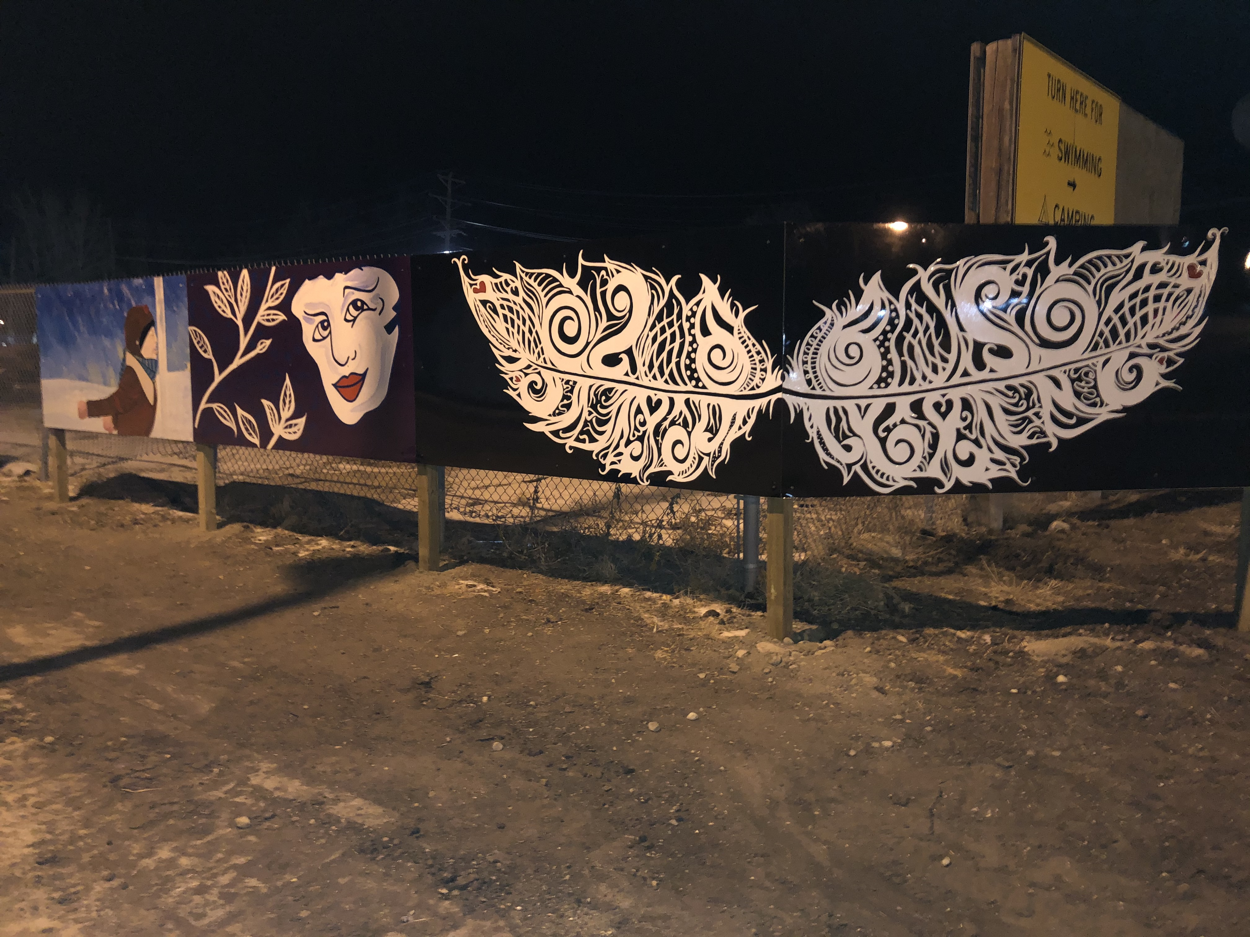 Caption: A portion of the Connie Nelson mural in Hallock, MN